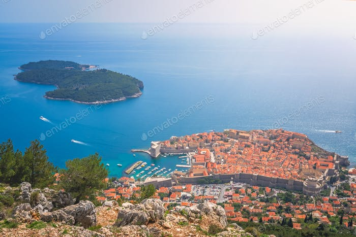 Dubrovnik Old Town from above
