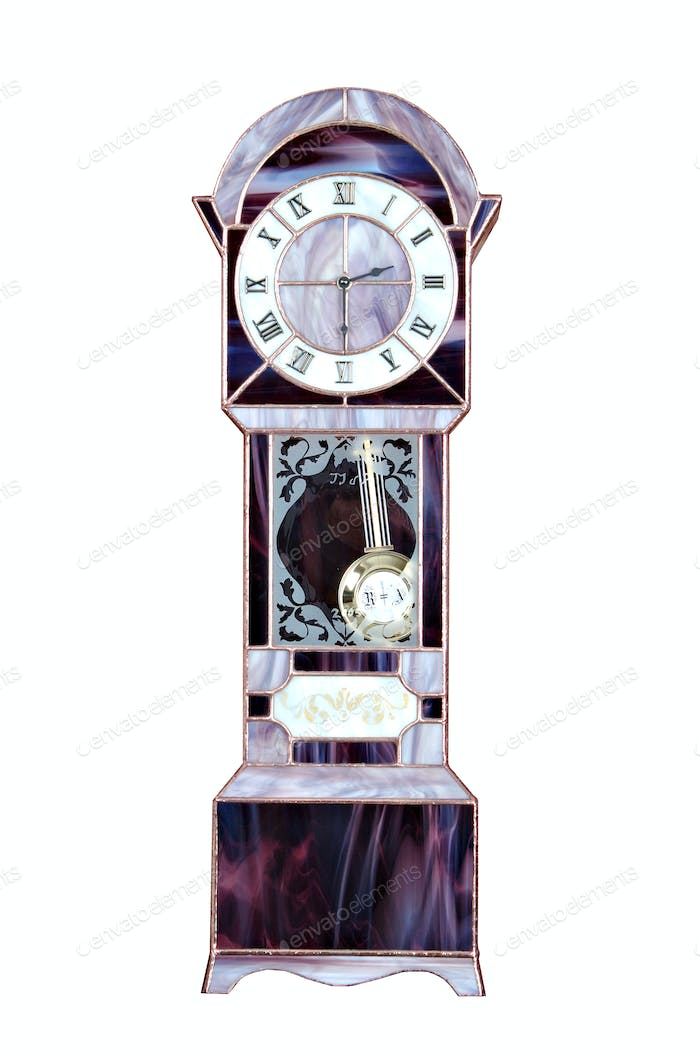 Stained glass grandfather clock