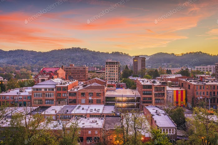 Asheville, North Caroilna, USA Skyline