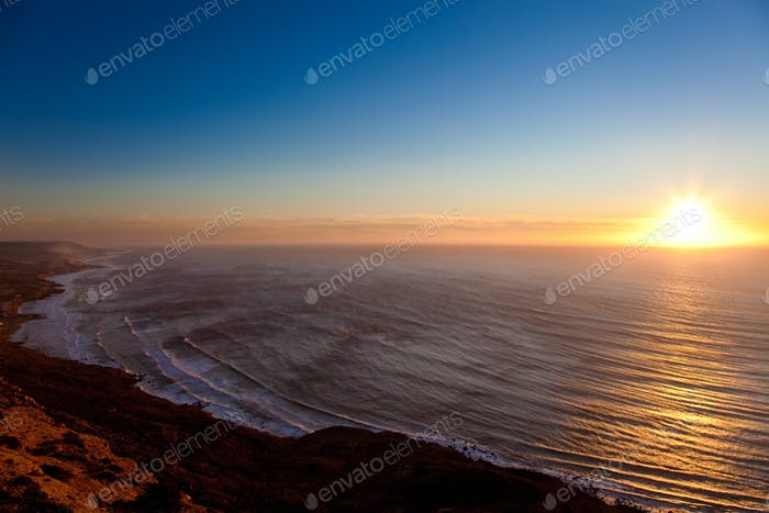 Seascape sunset