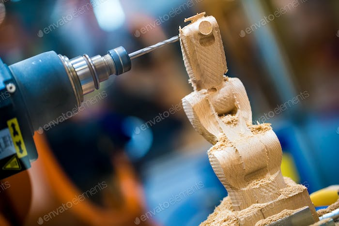 Woodworking CNC milling machine.