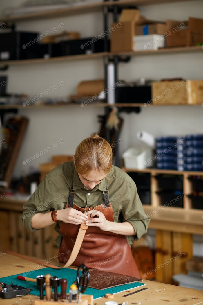 Modern Craftsman Working in Shop