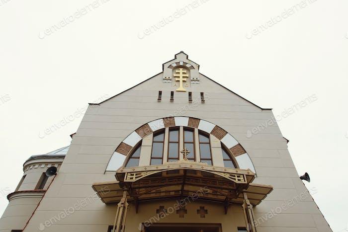 erstaunliche prächtige herausragende Gebäude einer Kirche oder Kathedrale im byzantinischen Stil