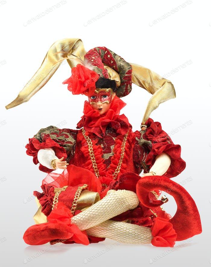 Red arlekino souvenir