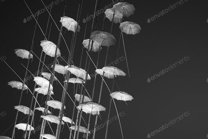 "The ""Umbrellas"" Installation at the new waterfront of Thessaloni"