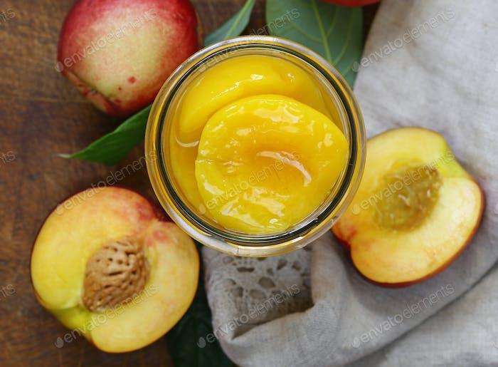 Organic Fruits Peaches