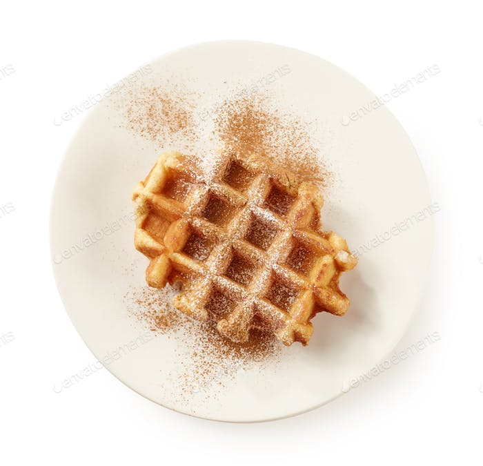 plate of baked waffle