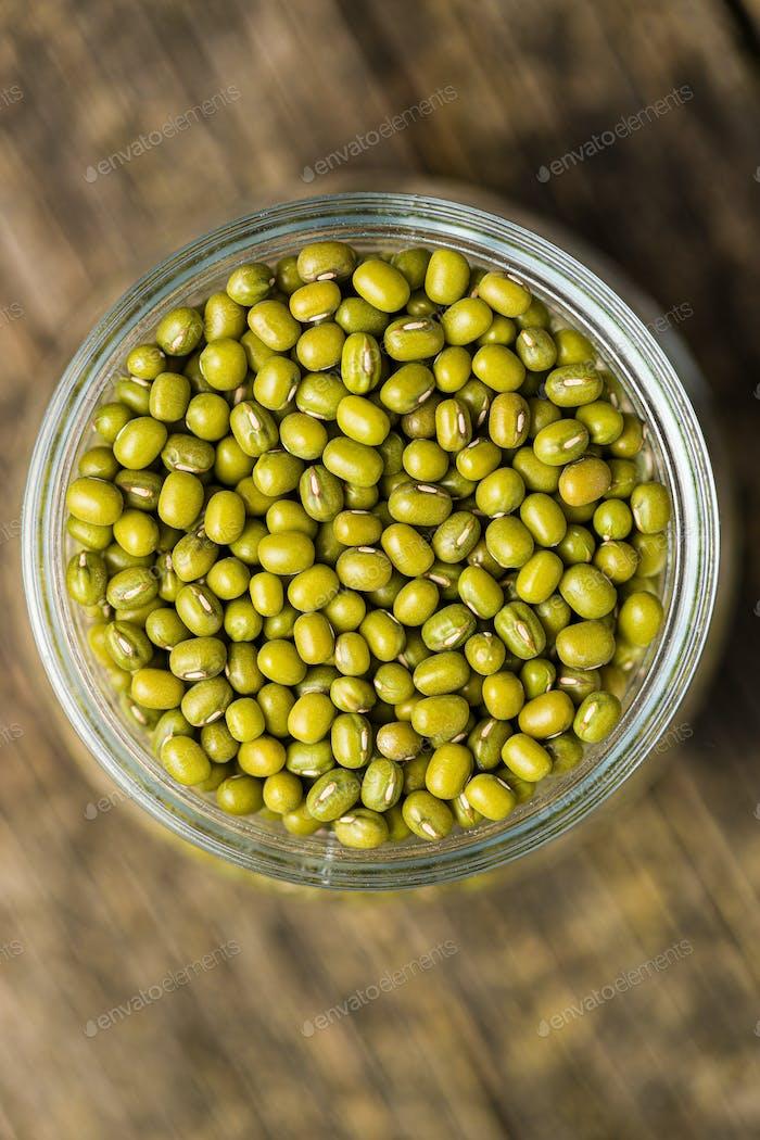 Green mung beans.