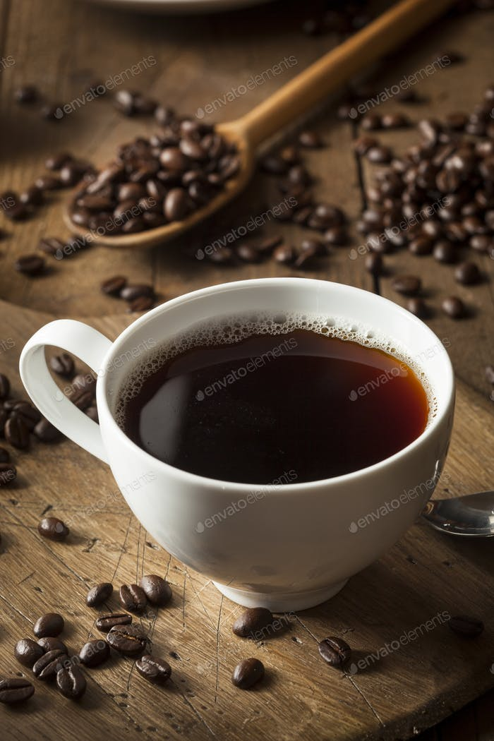 Dark Organic Black Coffee
