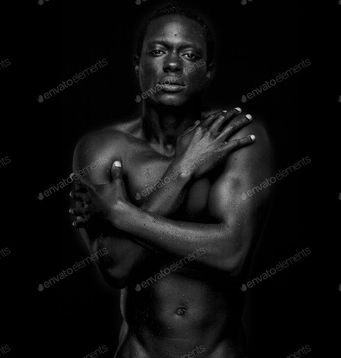 African American Fashion Model Undressed