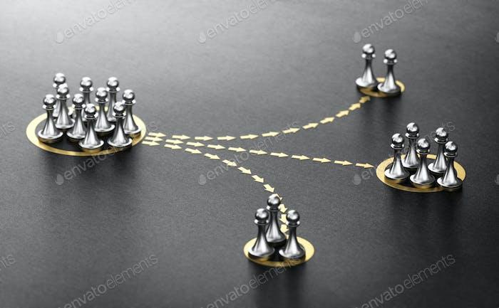 Customer or audience segmentation. Marketing Concept