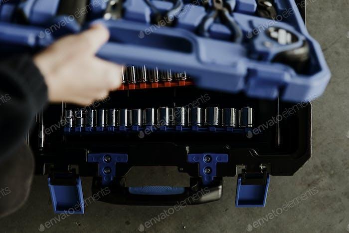 Caja de herramientas de mantenimiento mecánico