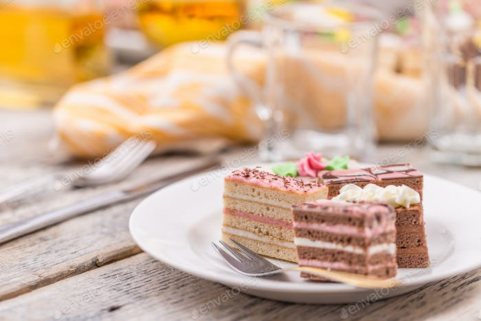 Decorative layered desserts