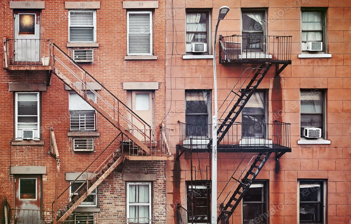Fire escapes in New York.