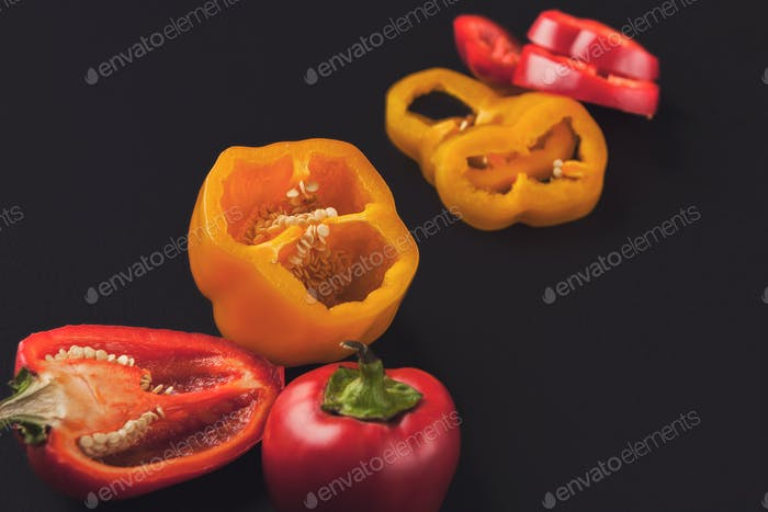 Red chili peppers closeup isolated on white background