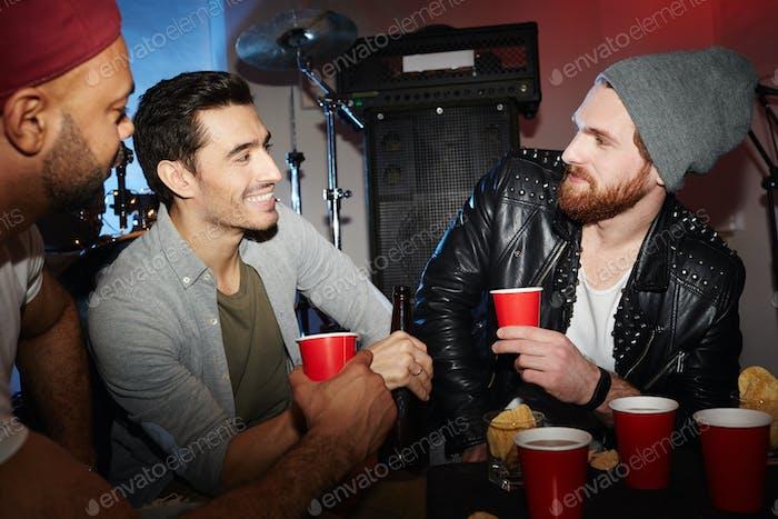 Guys in night-club