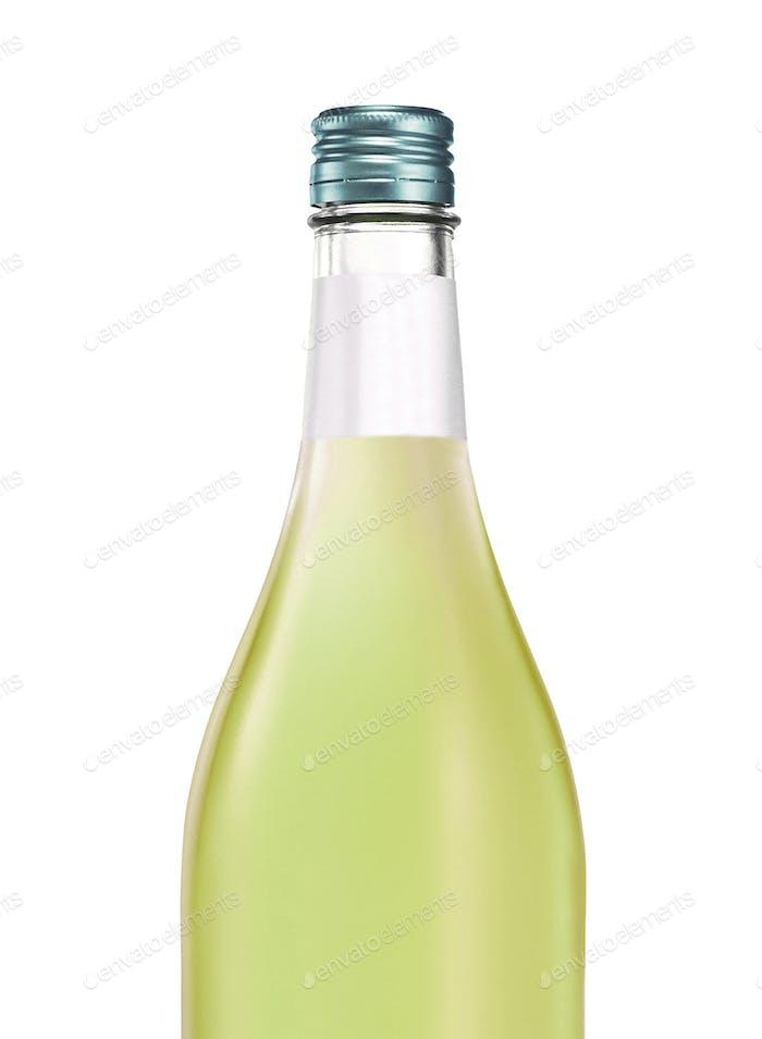 alcohol bottle isolated