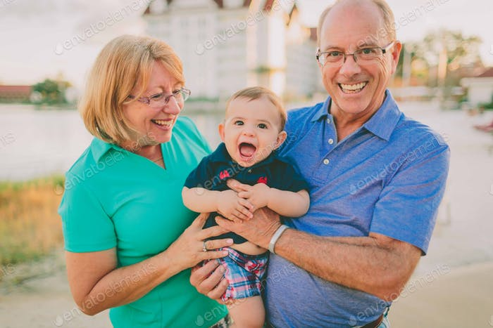 Grandparents with a Baby