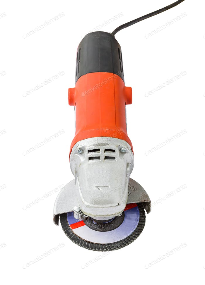 Power grinder on white background-4