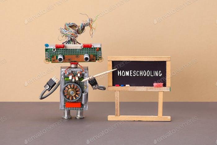 Homeschool distance education concept.