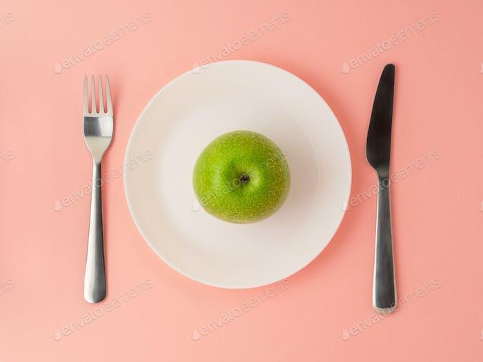 Ripe raw juicy green Apple