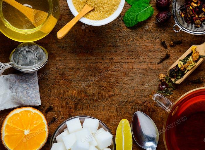 Tea Ingredients as Frame