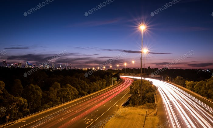 Melbourne Light Trails