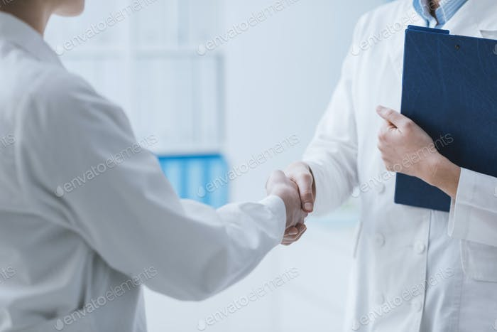 Doctors meeting in the office