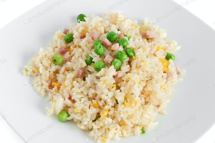 Cantonese rice closeup