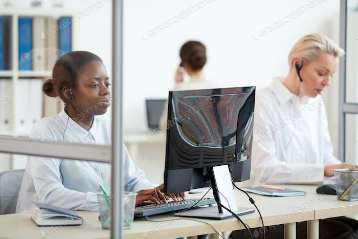 Female Operators Working in Customer Support Center