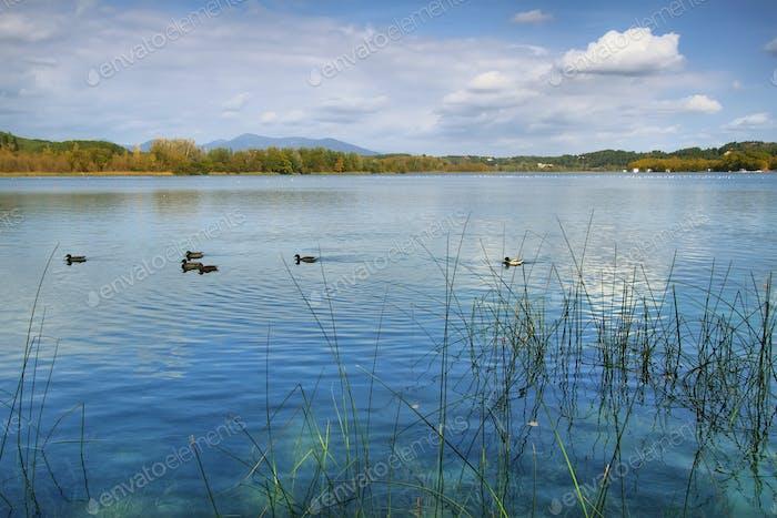 View of Lake Banyoles