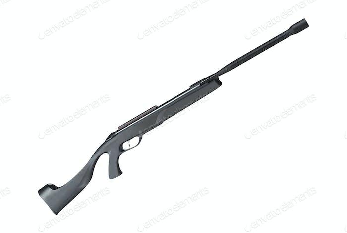 Bolt rifle isolated on white background