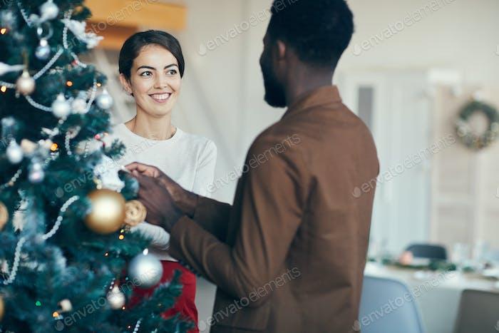 Happy Pärchen Dekoration Weihnachtsbaum
