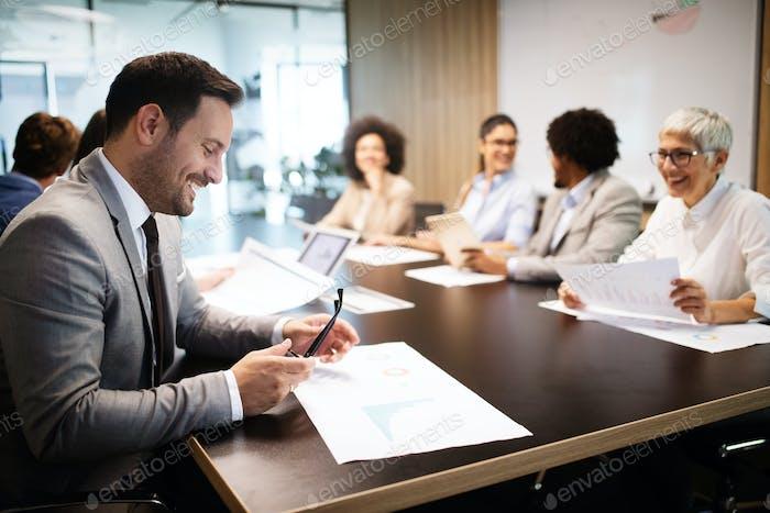 Meeting Corporate Success Business Brainstorming Teamwork Concept