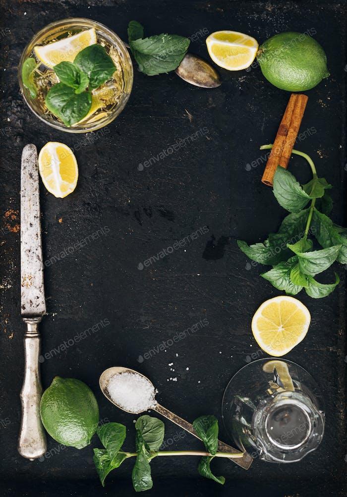 Mojito ingredients frame