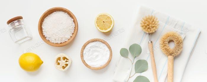 Eco Natural Reinigungsset für verschiedene Oberflächen in der Küche