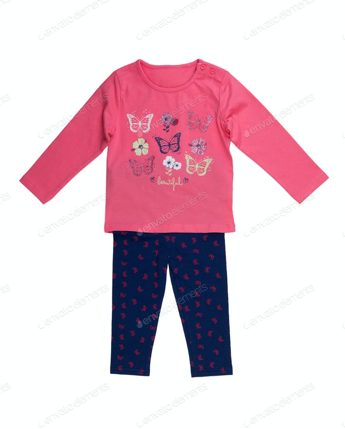 Children's jacket and pants set.