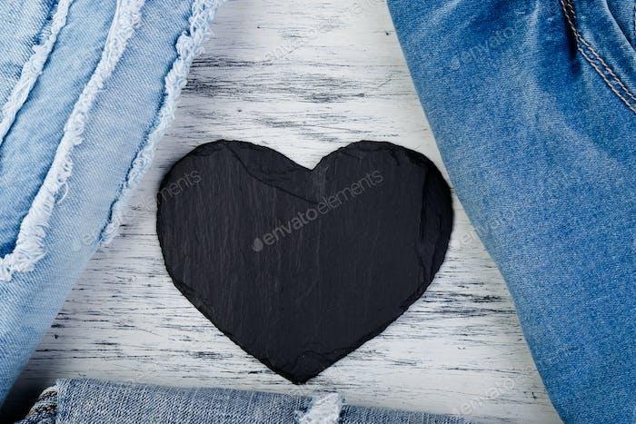 Denim. Jeans texture background.