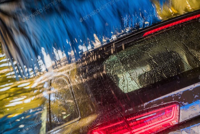 Vehicle in the Car Wash