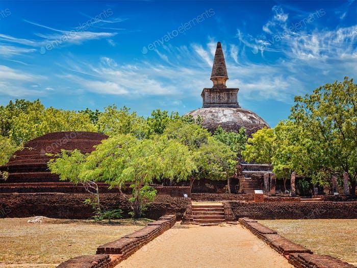 Sri Lankan tourist landmark Kiri Vihara dagoba
