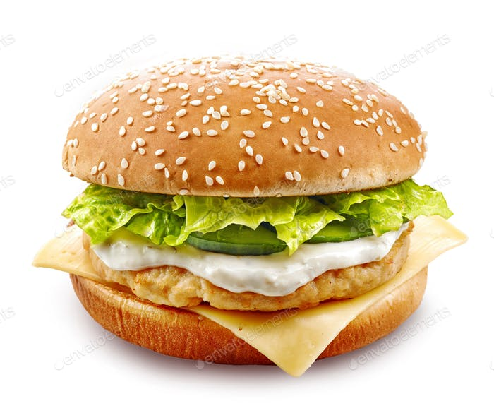 fresh chicken burger