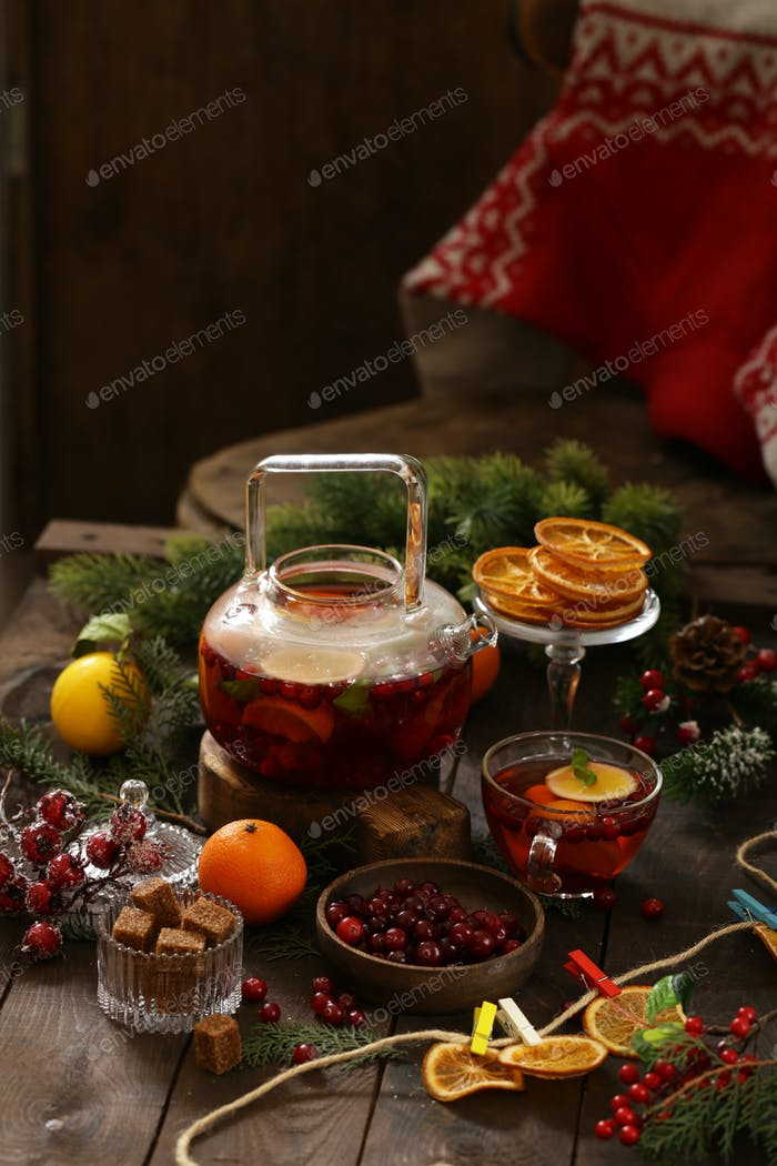 Cranberry Tea with Spices