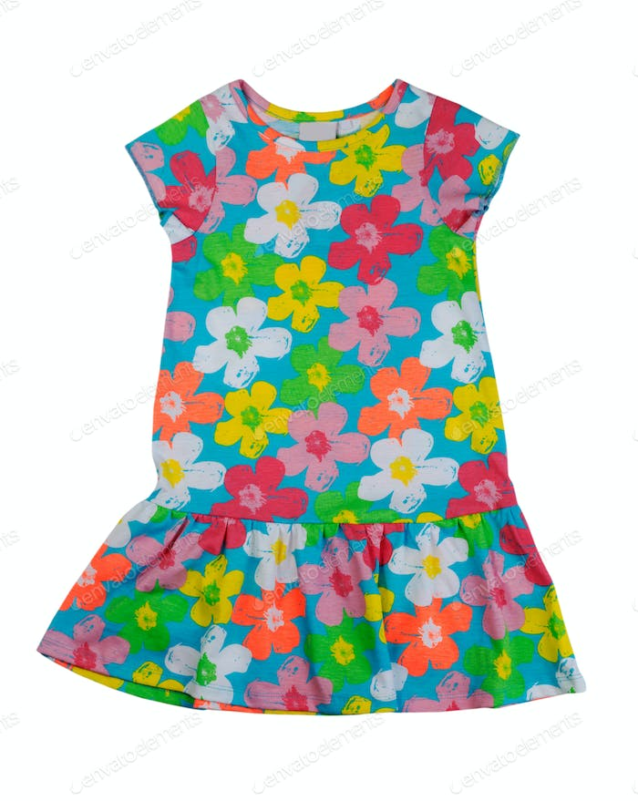 Color baby dress, isolate