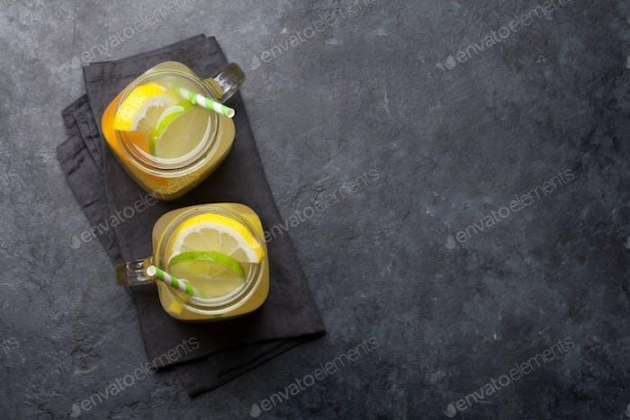 Fresh summer citrus lemonade