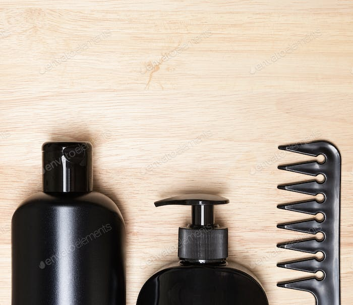 Hair care and styling products background