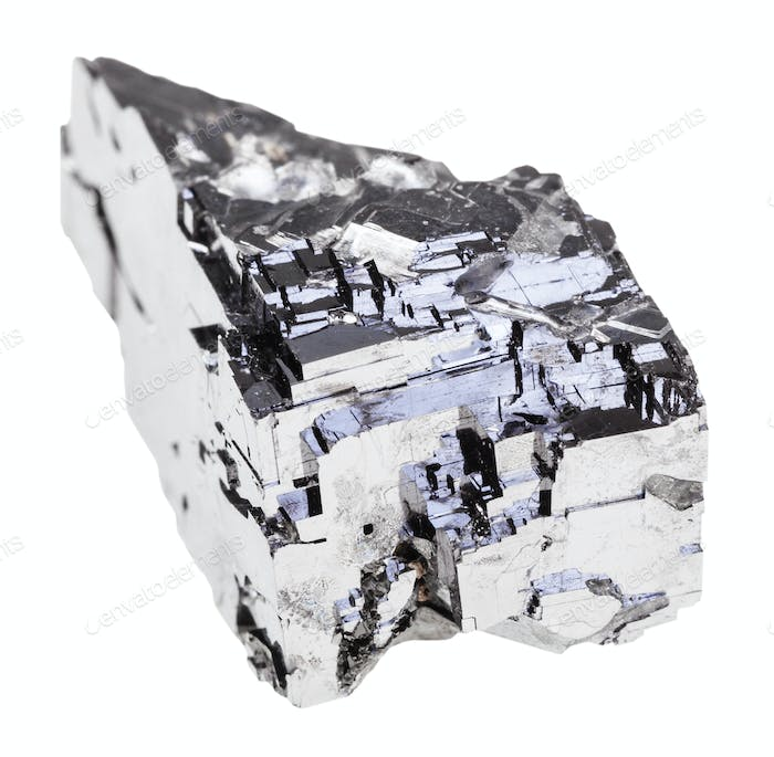 natural Galena stone isolated