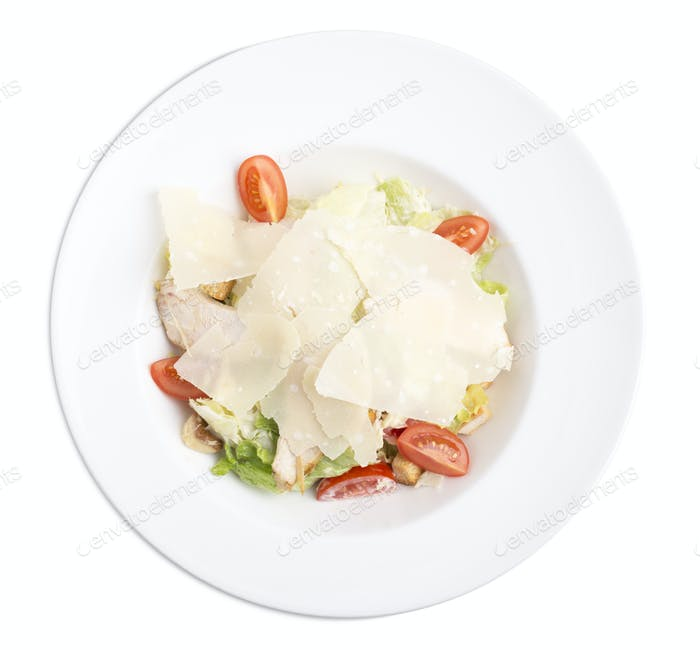 Cesar salad with chicken.