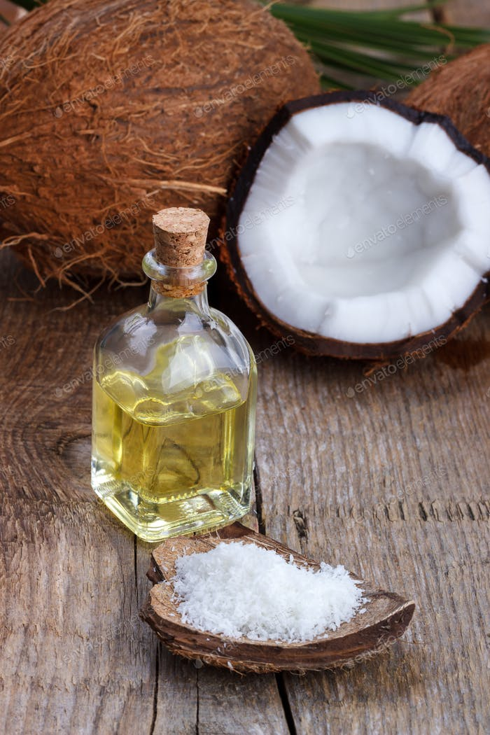 Coconut oil and shells