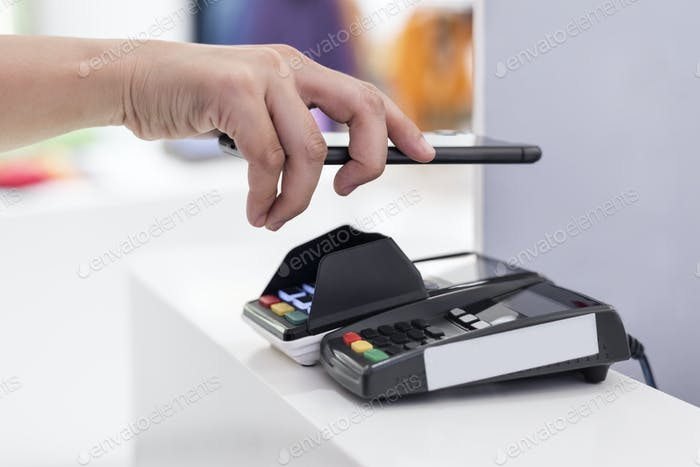 Contactless and cashless payment through mobile banking