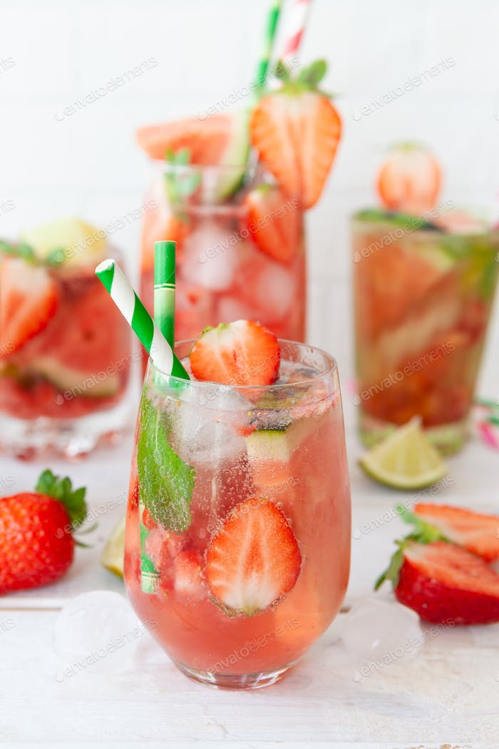 Strawberry and water melon lemonade